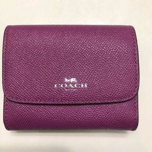 Leather Coach wallet! Used once!